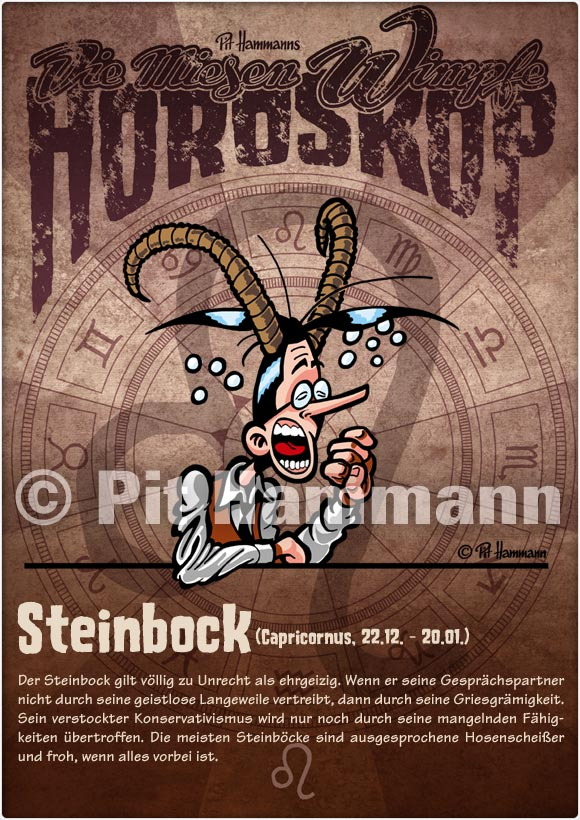 Cartoon Horoskop Steinbock Capricornus